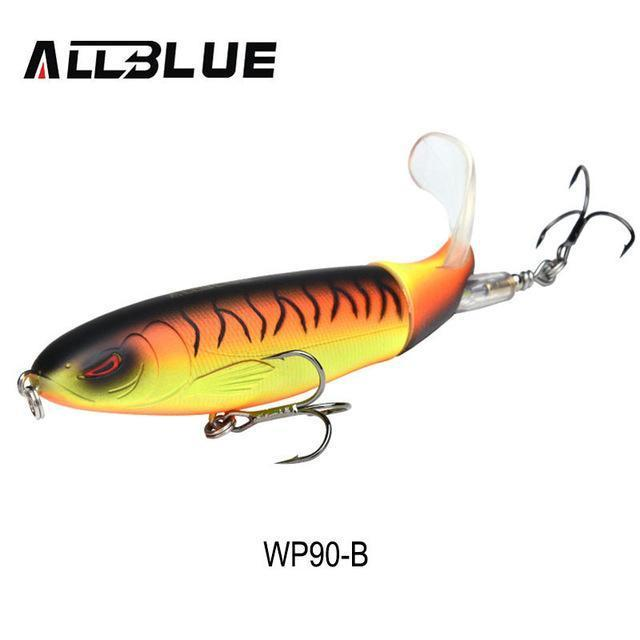 Allblue Whopper Popper 9Cm/11Cm/13Cm Topwater Fishing Lure Artificial Bait-allblue Official Store-Color B-9cm 13g-Bargain Bait Box