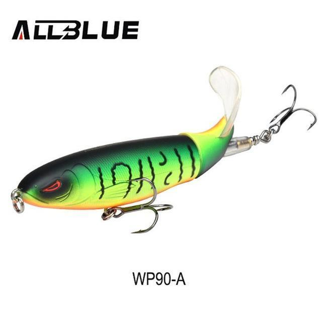 Allblue Whopper Popper Topwater Fishing Lure 13G 9Cm Artificial Bait Hard-allblue Official Store-Color A-Bargain Bait Box