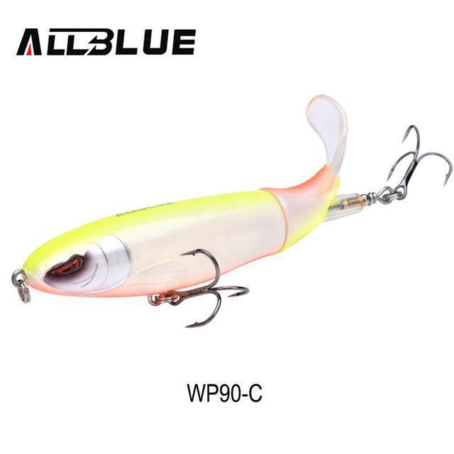 Allblue Whopper Popper Topwater Fishing Lure 13G 9Cm Artificial Bait Hard-allblue Official Store-Color C-Bargain Bait Box