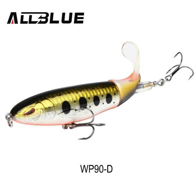Allblue Whopper Popper Topwater Fishing Lure 13G 9Cm Artificial Bait Hard-allblue Official Store-Color D-Bargain Bait Box