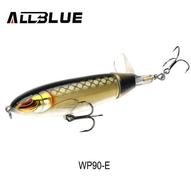 Allblue Whopper Popper Topwater Fishing Lure 13G 9Cm Artificial Bait Hard-allblue Official Store-Color E-Bargain Bait Box