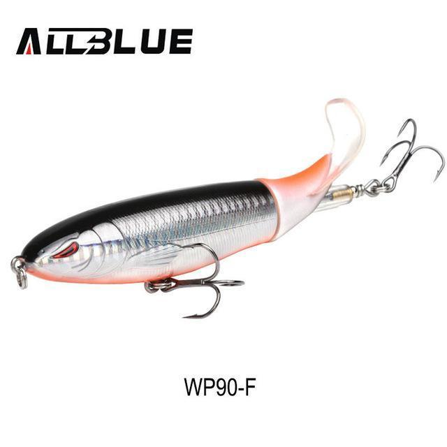 Allblue Whopper Popper Topwater Fishing Lure 13G 9Cm Artificial Bait Hard-allblue Official Store-Color F-Bargain Bait Box