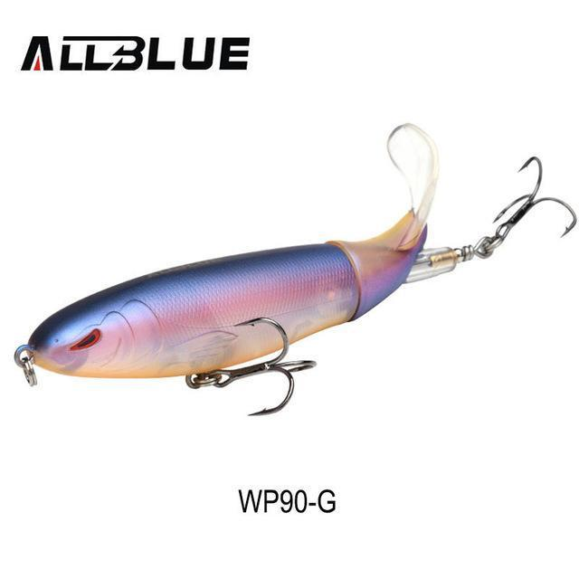 Allblue Whopper Popper Topwater Fishing Lure 13G 9Cm Artificial Bait Hard-allblue Official Store-Color G-Bargain Bait Box