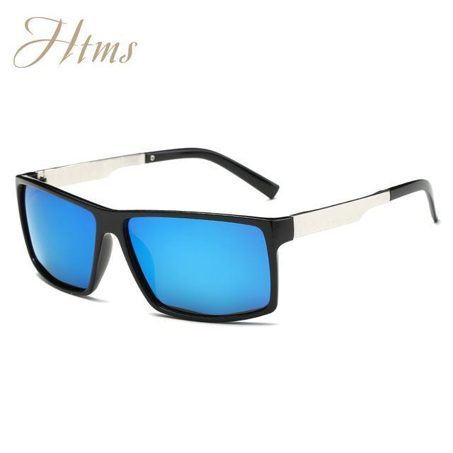 Aluminum Magnesium Polarized Aviation Sunglasses Men Male Driving Party Sun-Polarized Sunglasses-Bargain Bait Box-C02 BriBlack BlueMer-Packing A-Bargain Bait Box
