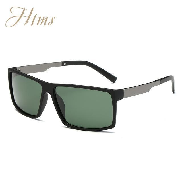Aluminum Magnesium Polarized Aviation Sunglasses Men Male Driving Party Sun-Polarized Sunglasses-Bargain Bait Box-C04 MB DarkGreen-Packing A-Bargain Bait Box