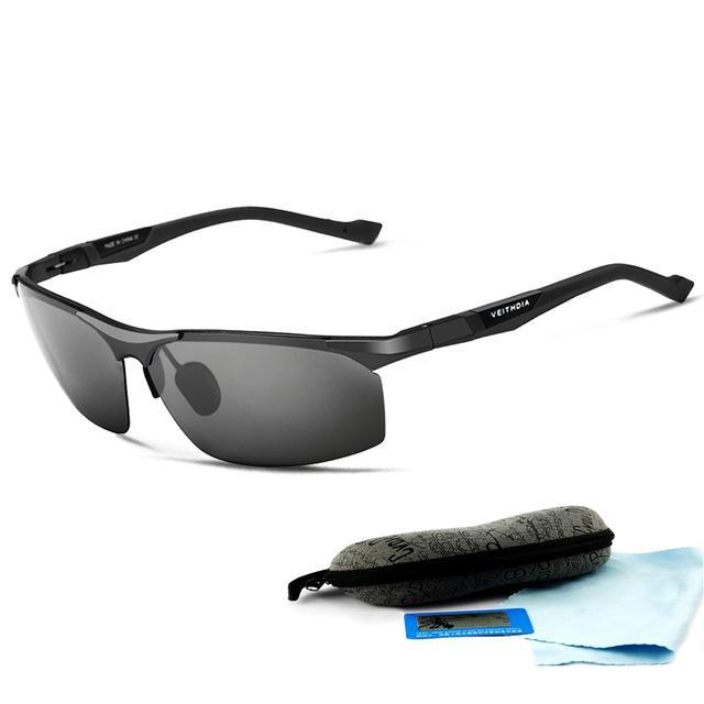 Aluminum Magnesium Sunglasses Polarized Men Coating Mirror Driving Sun Glasses-Polarized Sunglasses-Bargain Bait Box-Black-China-as picture-Bargain Bait Box