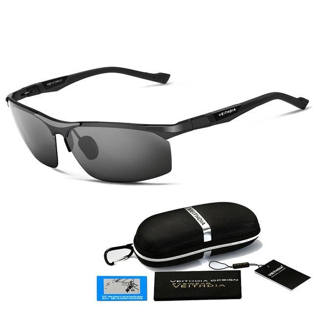 Aluminum Magnesium Sunglasses Polarized Men Coating Mirror Driving Sun Glasses-Polarized Sunglasses-Bargain Bait Box-Black with B-Australia-as picture-Bargain Bait Box