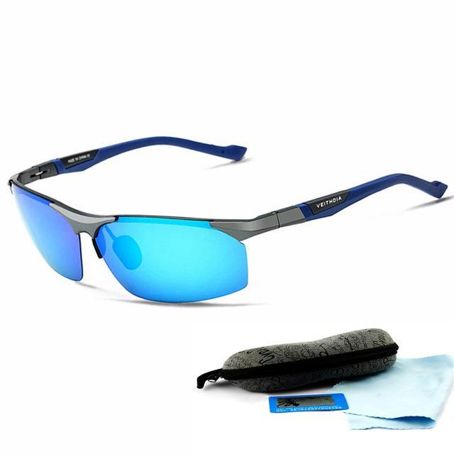 Aluminum Magnesium Sunglasses Polarized Men Coating Mirror Driving Sun Glasses-Polarized Sunglasses-Bargain Bait Box-Blue-China-as picture-Bargain Bait Box