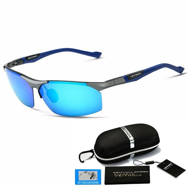 Aluminum Magnesium Sunglasses Polarized Men Coating Mirror Driving Sun Glasses-Polarized Sunglasses-Bargain Bait Box-Blue with B-Australia-as picture-Bargain Bait Box