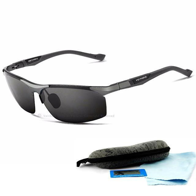 Aluminum Magnesium Sunglasses Polarized Men Coating Mirror Driving Sun Glasses-Polarized Sunglasses-Bargain Bait Box-Gray-China-as picture-Bargain Bait Box