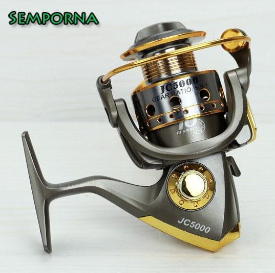 Aluminum Spool Superior Ratio 5.5:1 Spinning Fishing Reels 10Bb Folding Carp-Spinning Reels-Rompin Fishing Tackle Store-1000 Series-Bargain Bait Box