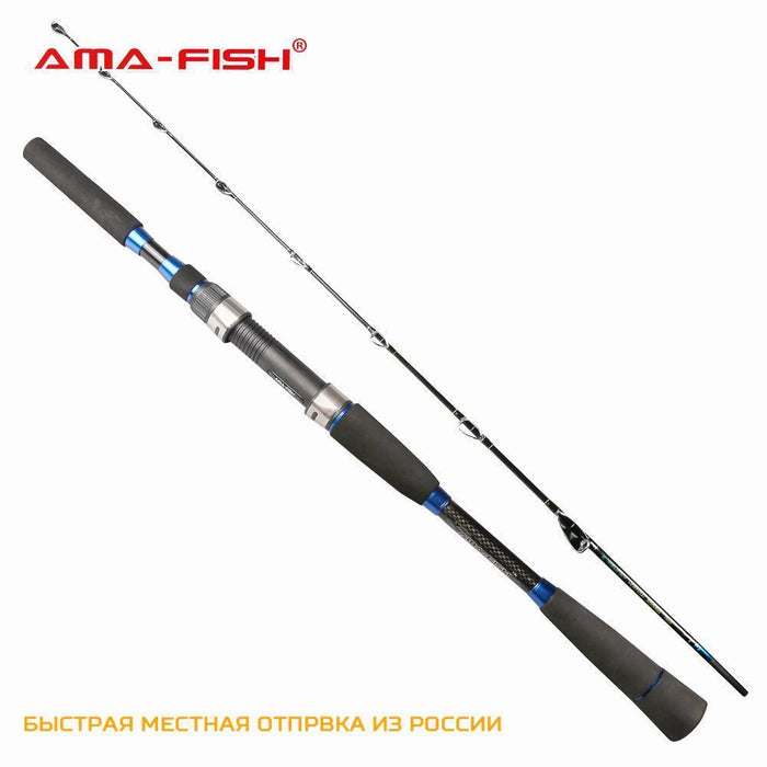 Ama-Fish Brand Spinning Rod 1.95M Lure Rod 2 Sections Carbon Rods M Action-Spinning Rods-Target Sports-White-Bargain Bait Box