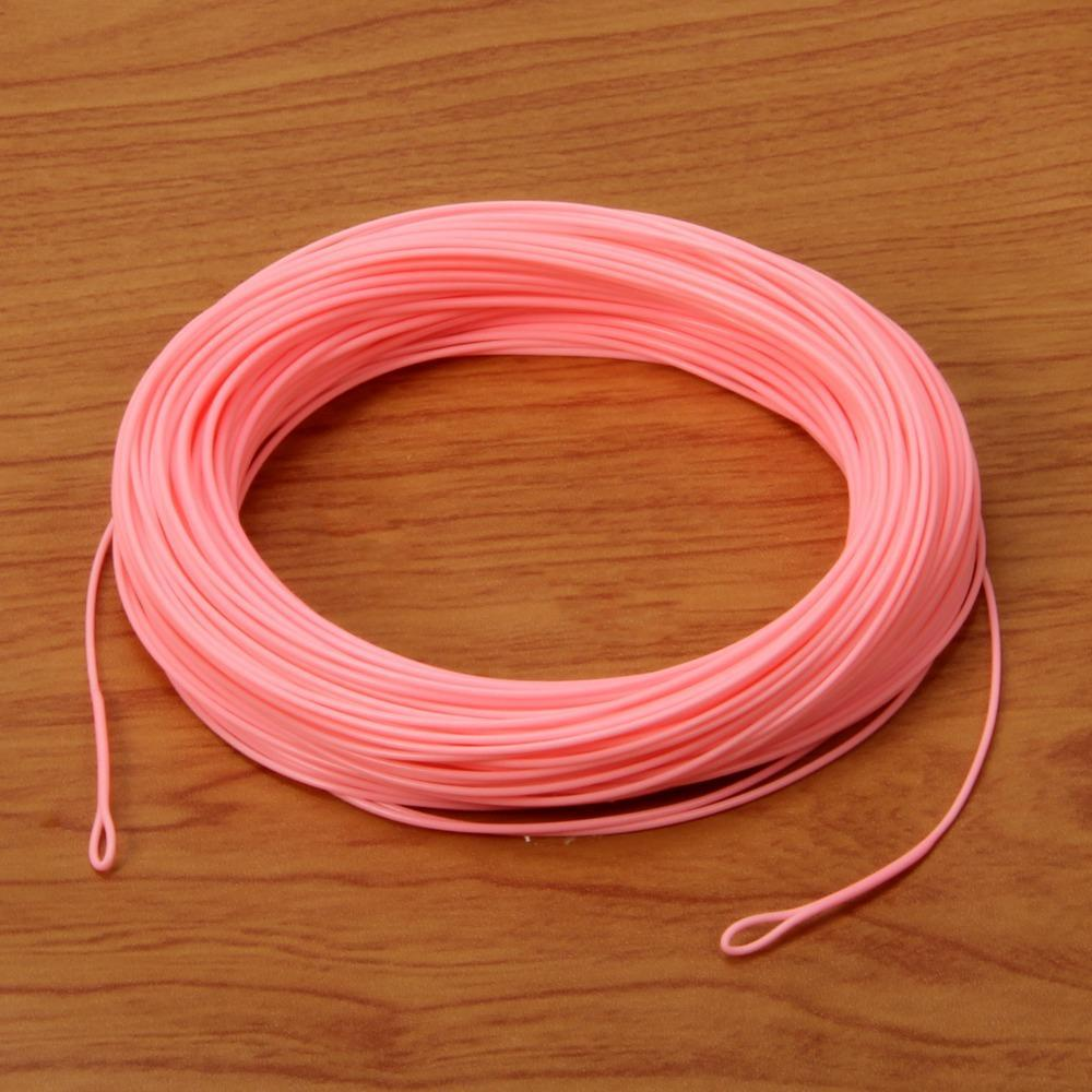 Angler Dream 100Ft Weight Forward Fly Fishing Line Pink Color-AnglerDream Store-WF1F-Bargain Bait Box