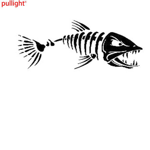 Angry Fish Sticker Fishing Bait Boat Hobbies Car Window Sticker Decal-Fishing Decals-Bargain Bait Box-Black-Bargain Bait Box