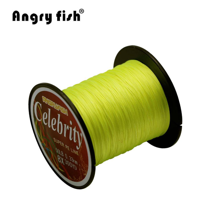 Angryfish 274M 300Yards 8 Strands Pe Braided Fishing Line Strong Strength Line-angryfish Store-White-0.8-Bargain Bait Box