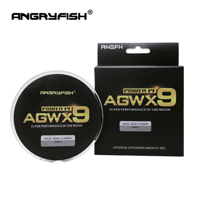 Angryfish 9 Strands 300M Super Pe Braided Fishing Line 11 Colors Strong Line-Yile Fishing Tackle Co.,Ltd-Yellow-0.4-Bargain Bait Box