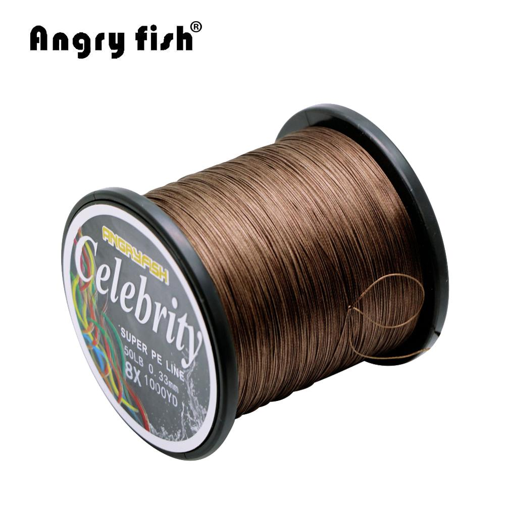 Angryfish 914M 1000Yards 8 Strands Pe Braided Fishing Line Strong Strength Line-angryfish Store-White-0.8-Bargain Bait Box