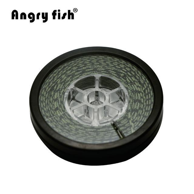 Angryfish Lead Core Carp Fishing Line 25Lbs 35Lbs 45Lbs 60Lbs 10Meters For-angryfish Store-Camou Green-60LB-Bargain Bait Box