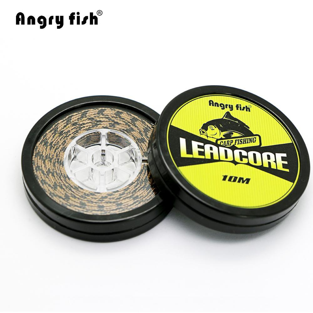 Angryfish Lead Core Carp Fishing Line 25Lbs 35Lbs 45Lbs 60Lbs 10Meters For-angryfish Store-Green-60LB-Bargain Bait Box