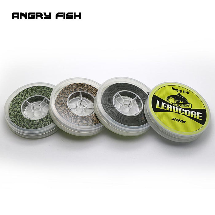 Angryfish Lead Core Carp Fishing Line 25Lbs 35Lbs 45Lbs 60Lbs 20Meters For-Yile Fishing Tackle Co.,Ltd-green-60LB-Bargain Bait Box