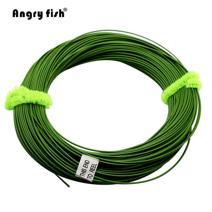 Angryfish Wf 5F/6F/7F 100Ft Dloating Fly Fishing Line Weight Forward Floating-Yile Fishing Tackle Co.,Ltd-Yellow-5.0-Bargain Bait Box
