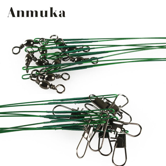 Anmuka 18Pcs Fly Fishing Lead Line Leader Wire Leading Line Assortment Sleeve-Anmuka Fishing (China) Store-Silver-Bargain Bait Box