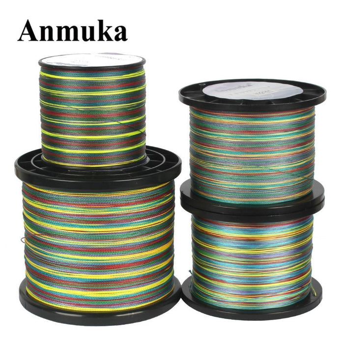 Anmuka 300M 500M 1000M Braided Fishing Line 1 Meter 1 Color 8 Strands-Braided Lines-Garrete Store-300M-1.0-Bargain Bait Box