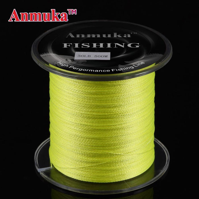 Anmuka 500M Anmuka Brand Super Series Japan Multifilament Pe Braided Fishing-Anmuka Outdoor store-Yellow-0.4-Bargain Bait Box