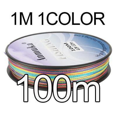 Anmuka Fishing Line 100M 300M 500M 1000M Multicolor 1M 1 Color Mulifilament Pe-Anmuka Outdoor store-100M-1.0-Bargain Bait Box