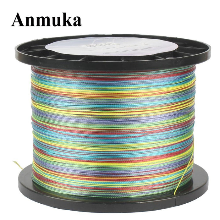 Anmuka Fishing Line 100M 300M 500M 1000M Multicolor 1M 1 Color Mulifilament Pe-Anmuka Outdoor store-300M-1.0-Bargain Bait Box