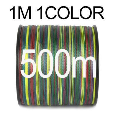Anmuka Fishing Line 100M 300M 500M 1000M Multicolor 1M 1 Color Mulifilament Pe-Anmuka Outdoor store-500M-1.0-Bargain Bait Box