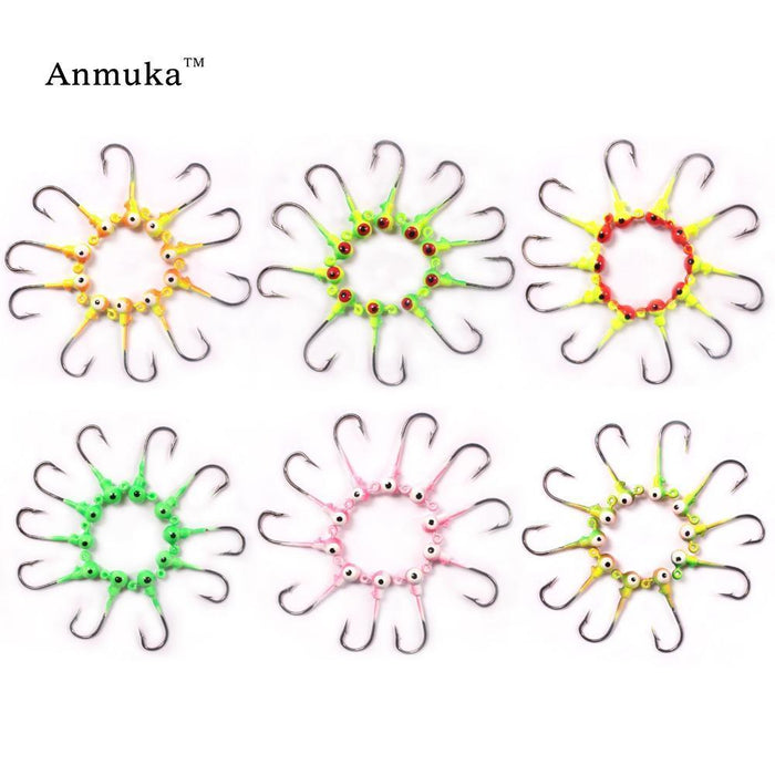 Anmula Jig Hooks 1G 2G 3.5G 5G 7G 10G 14G 20G Lead Head Jigs With Single Hook-Anmuka Outdoor store-1g color1 20pcs-Bargain Bait Box