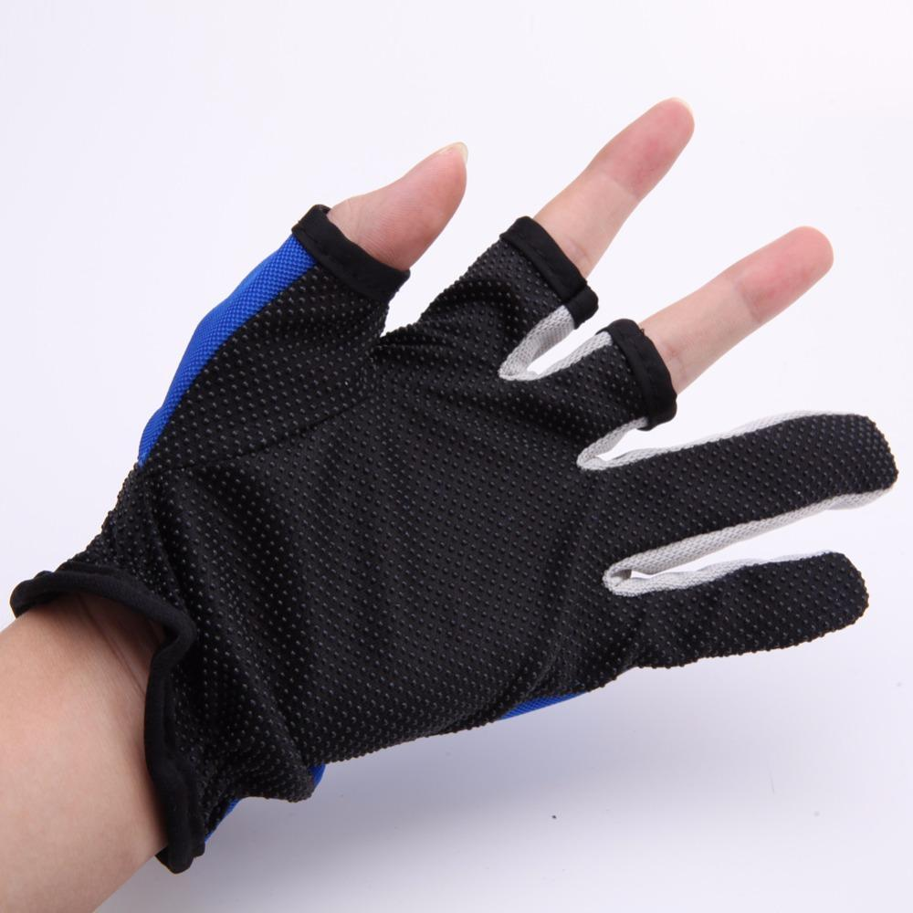 Anti Slip Slip-Resistant 3 Low-Cut Fingers Fishing Gloves Tackle Finger-Gloves-Bargain Bait Box-Black-Bargain Bait Box