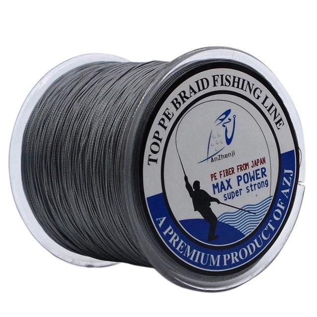 Anzhenji 8 Strands Weaves 500M Extrem Strong Japan Multifilament Pe 8 Braided-Thanksgiving Family-AZJ8P500Grey-1.0-Bargain Bait Box