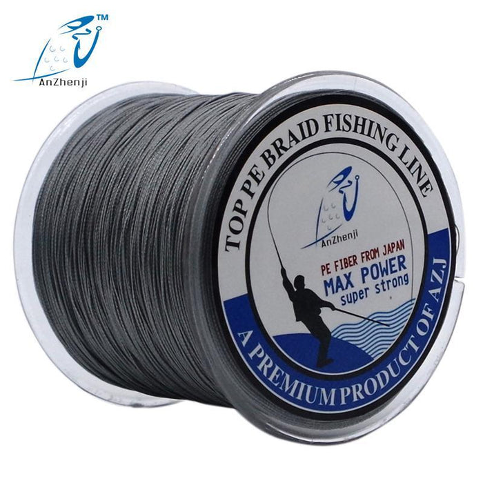 Anzhenji 8 Strands Weaves 500M Extrem Strong Japan Multifilament Pe 8 Braided-Thanksgiving Family-AZJ8P500White-1.0-Bargain Bait Box