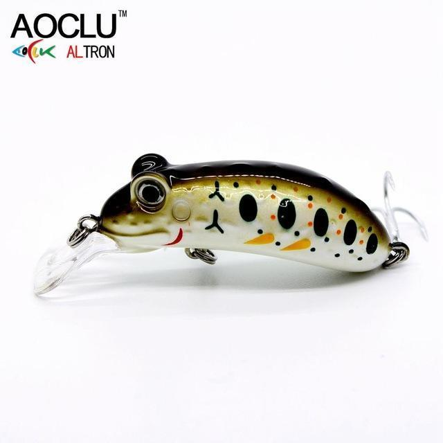 Aoclu Frog Wobblers Jerkbait 4 Colors 4.5Cm 6.8G Hard Bait Small Minnow Crank-AOCLU -Fishing Store-Brown NB509-Bargain Bait Box