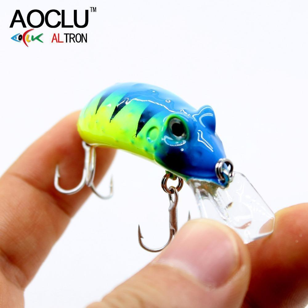Aoclu Frog Wobblers Jerkbait 4 Colors 4.5Cm 6.8G Hard Bait Small Minnow Crank-AOCLU -Fishing Store-Green NB509-Bargain Bait Box