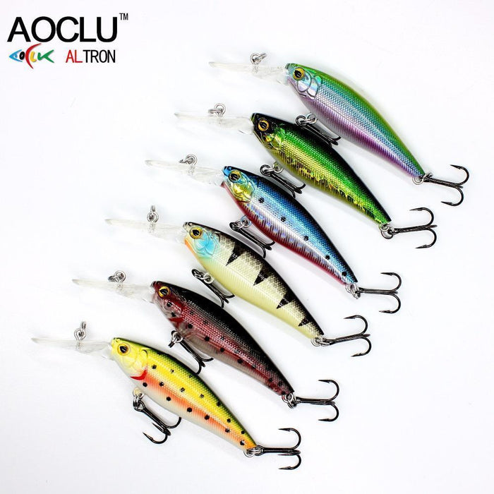 Aoclu Lure Wobblers 58Mm 5.6G Hard Bait Minnow Crank Fishing Lure Saltwater-AOCLU -Fishing Store-COLOR A WH036-Bargain Bait Box