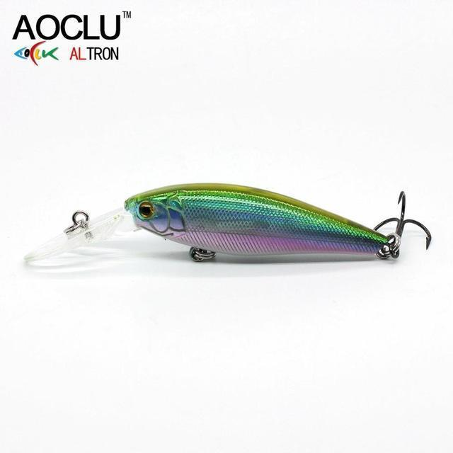 Aoclu Lure Wobblers 58Mm 5.6G Hard Bait Minnow Crank Fishing Lure Saltwater-AOCLU -Fishing Store-COLOR B WH036-Bargain Bait Box
