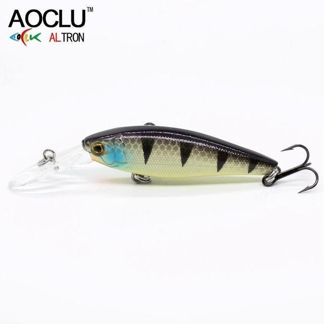 Aoclu Lure Wobblers 58Mm 5.6G Hard Bait Minnow Crank Fishing Lure Saltwater-AOCLU -Fishing Store-COLOR F WH036-Bargain Bait Box