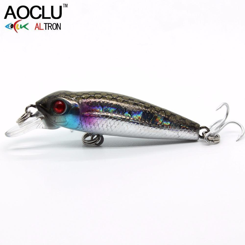 Aoclu Wobblers 40Mm 2.1G Floating Hard Bait Mini Minnow Depth 0.5M-AOCLU -Fishing Store-COLOR A NB147-Bargain Bait Box