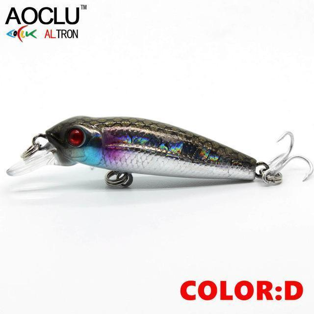 Aoclu Wobblers 40Mm 2.1G Floating Hard Bait Mini Minnow Depth 0.5M-AOCLU -Fishing Store-COLOR D NB147-Bargain Bait Box