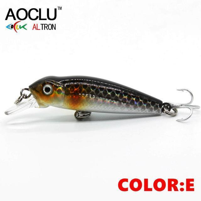 Aoclu Wobblers 40Mm 2.1G Floating Hard Bait Mini Minnow Depth 0.5M-AOCLU -Fishing Store-COLOR E NB147-Bargain Bait Box