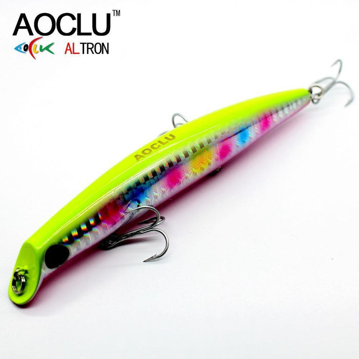 Aoclu Wobblers Super Quality 5 Colors 12Cm 13.8G Hard Bait Minnow Crank-AOCLU -Fishing Store-Red Head BB120-Bargain Bait Box
