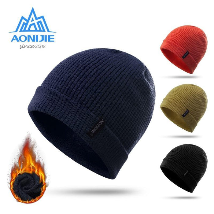 Aonijie M27 Unisex Winter Warm Sports Slouchy Cuffed Knit Beanie Hat Skull Cap-Running Caps-YOUGLE store-Ginger-Bargain Bait Box