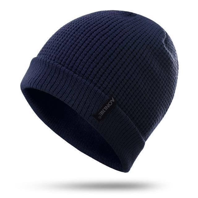 Aonijie M27 Unisex Winter Warm Sports Slouchy Cuffed Knit Beanie Hat Skull Cap-Running Caps-YOUGLE store-Navy-Bargain Bait Box