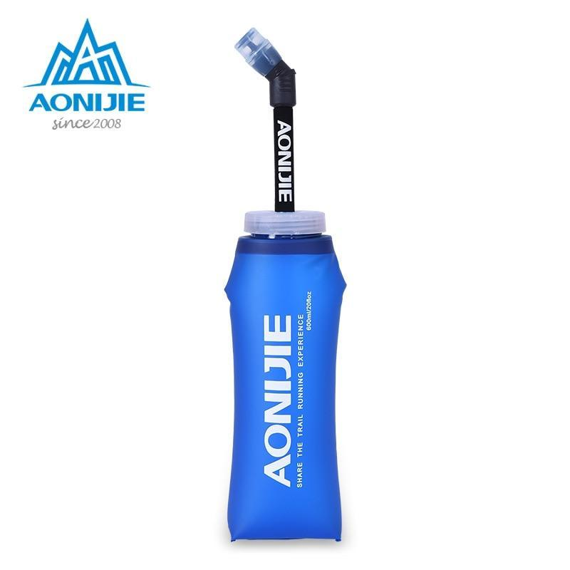 Aonijie Tpu Soft Water Flasks With Long Straw Running Sports Water Bottles-Water Bags-YOUGLE store-600ML-Bargain Bait Box