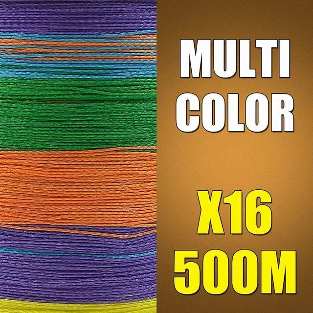 Ascon Fish 16 Strands Braided Fishing Line 500M Multifilament Fishing Line-AsconFish Pro Fishing Store-Multicolor-0.16MM-20LB-No. 1.0-Bargain Bait Box