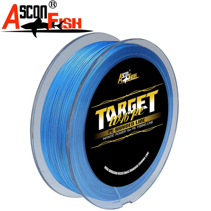 Ascon Fish 16 Strands Braided Fishing Line 500M Multifilament Fishing Line-AsconFish Pro Fishing Store-White-0.16MM-20LB-No. 1.0-Bargain Bait Box