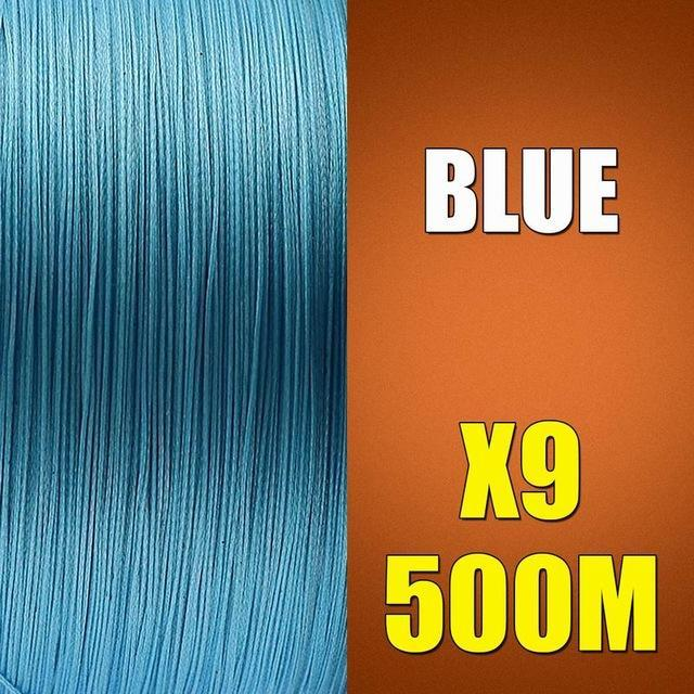 Ascon Fish 9 Strands Braided Fishing Line 500M Multifilament Fishing Line 9-AsconFish Pro Fishing Store-Blue-0.14MM-15LB-No. 0.8-Bargain Bait Box